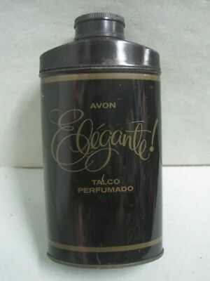 Avon To Elegante! Perfumed Talc Powder Shaker Tin