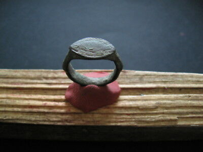 ANCIENT CELTIC ROMAN WARRIORS BRONZE FINGER RING 1-2 ct. AD
