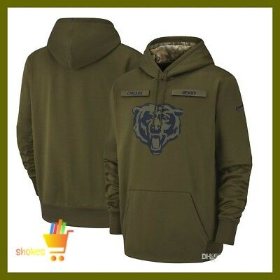 huge discount f5199 d973b CHICAGO BEARS 2018 NFL Salute to Service Hoodie Therma ...