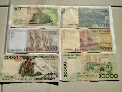Various Circulated Indonesian Rupiah Notes. Ideal For An Avid Note Collector.