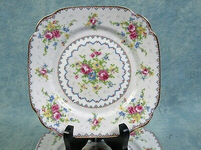 Royal Albert Petit Point Bone China Bread & Butter Dessert Plate 1930's