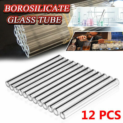 "12pcs 8mm OD Pyrex Glass Tubes Borosilicate Glass Blowing Tubing Clear 12 "" Long"