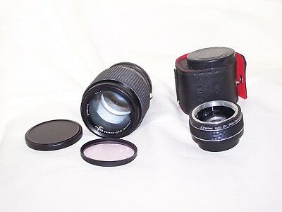 JC Penny Screw Mount 135mm f3.5 Lens, Auto 2X Tele converter& DaLite Filter