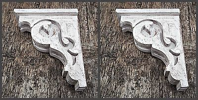 Victorian Wooden Corbel Shabby Chic Farmhouse Decor Wood Shelf Bracket 1 x Pair