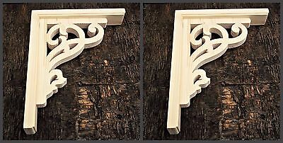 Farmhouse Decor Victorian  Wooden Corbel Rustic Screen Door Brackets 1xPair