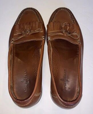 980f7cd75c8 Cole Haan Loafers mens 11 11M brown leather Dwight tassel shoes slip-on  casual