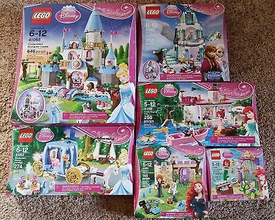 LEGO Disney Princess 6 sets 41050, 41051, 41052, 41053, 41055, 410562 NISB Rare