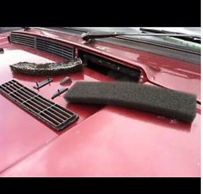 Range Rover Classic scuttle Filter kit for heater Aircon Pollen (blk OEM Type)