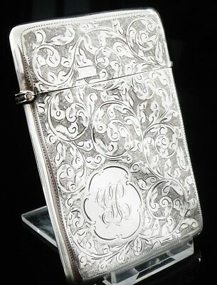 Silver Card Case, Birmingham 1902, Henry Williamson Ltd