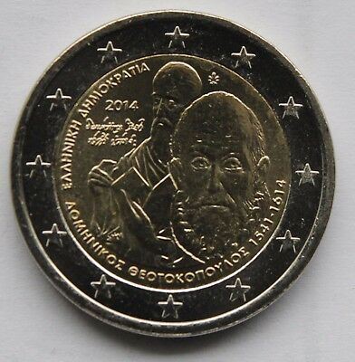 GREECE 2 € euro commemorative coin 2014 - 400 Years since the Death of El Greco
