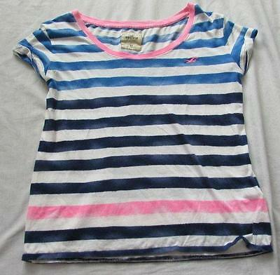 bd5bb2dc CASLON WOMENS LARGE Blue White Striped Scoop Neck Front Pocket Linen ...