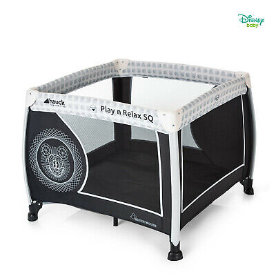 New Hauck Forest Fun Play N Relax Square Travel Cot / Baby Playpen From Birth