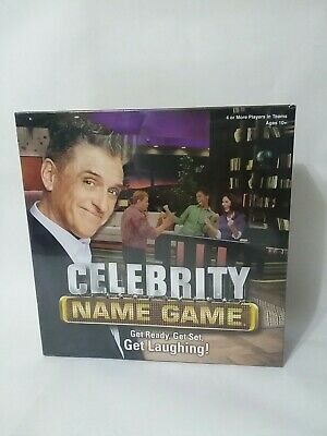Celebrity Name Game Board Game *Factory Sealed*