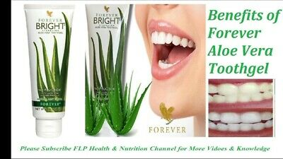 FOREVER BRIGHT TOOTHGEL X 2 / PURE ALOE VERA / BRAND NEW / SEALED / 130g.