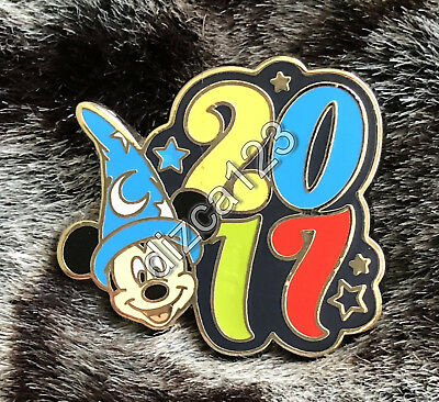 Disney Pin Parks 2017 Dated Character Booster Sorcerer Mickey Mouse Pin