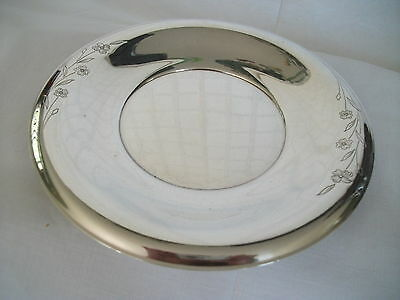 1847 Rogers I/S silver plate tray Spring time #9394