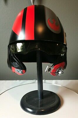 Anovos Star Wars The Force Awakens Poe Dameron X-Wing Black Squadron Helmet