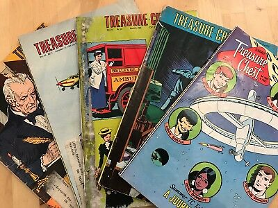 5 x Treasure Chest Of Fun & Fact 1960's Incl Summer Vol 1 #1 Journey To The Moon