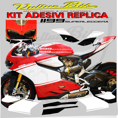 "decal sticker kit ""Superleggera"" black / white for Ducati 899 1199 Panigale"