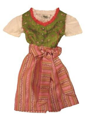 Children Dirndl Festive with Blouse and Apron Rosa/Green Size 80 104 110