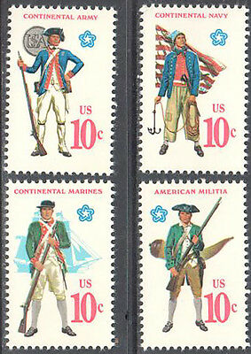 SC#1565 - 1568 -  10c Military Uniforms Issue Set of 4 MNH