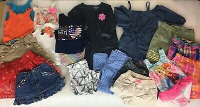 Lot of 20 Piece Girls Clothing Sz 5/6 Spring/Summer Clothes Outfits Dresses