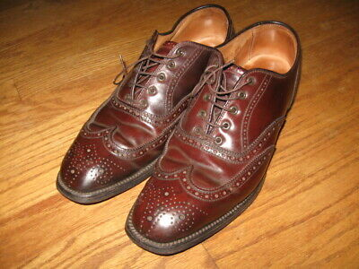 3ff9cf1c383 Alden Brooks Brothers Burgundy Shell Cordovan Wingtip Shoes Size 7 1/2 C  A764