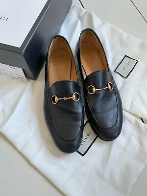 af85d2ce0c2 Gucci New Jordaan Snaffle Black Horsebit Loafers Shoes Ladies UK 6 EU 39 US  6.5