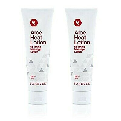 FOREVER ALOE HEAT LOTION X 2 pc / FOR SOOTHING ACHES / ORIGINAL / SEALED/ 118 ml