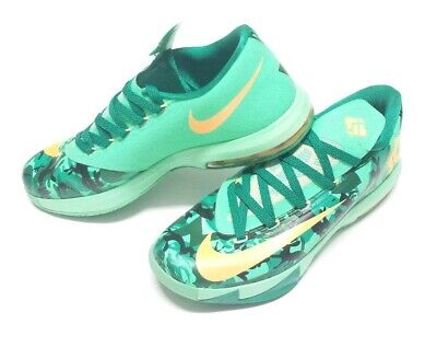 sports shoes 87564 067ef Nike KD VI Easter Lucid Green Atomic Mango 6 s Size 11.5    2014  599424
