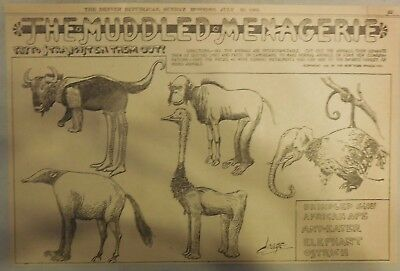 The Muddled Menagerie by Crane from from 7/30/1905 Half Page Size!