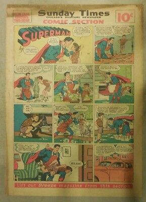 Superman Sunday Page #356 by Siegel & Shuster from 8/25/1946 Spanking!