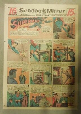 Superman Sunday Page #325 by Siegel & Shuster from 1/20/1946 Tab Page:Year #7!