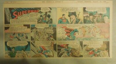 Superman Sunday Page #251 by Siegel & Shuster from 8/20/1944 1/3 Page