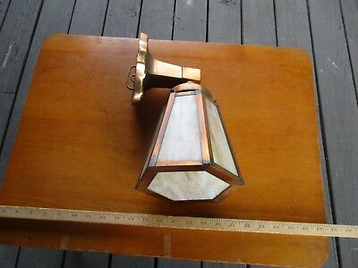 Antique Copper Slag Glass Arts & Crafts Porch Outdoor Light Awesome