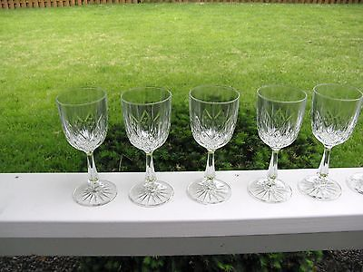Set of Six Anchor Hocking Clear Canfield (Diamond Design) Water Goblets...EC!