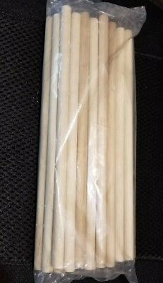 "Brand New Lot of 10 Birch Wooden Dowel Rods 1/2"" x 12"" Unfinished For Crafts"