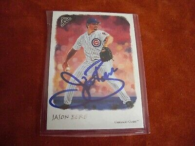 2002 Topps Gallery AUTO Signed Blue Sharpie Jason Bere CUBS #120 FREE SHIP NICE