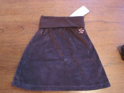 FAIGIE NWT Girl Velour Skirt Size 4 Soft Comfy Embellished Boutique Cozy