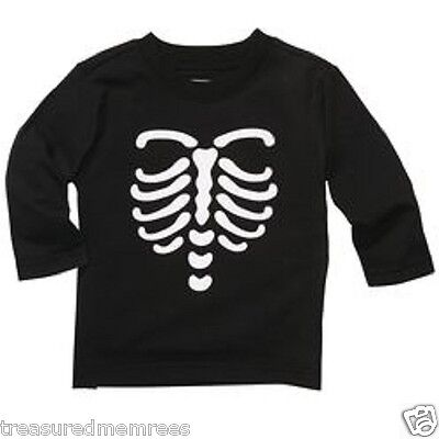 Oshkosh B'gosh Glow In The Dark Skeleton Graphic Shirt ~ Size 6 Months ~ NWT