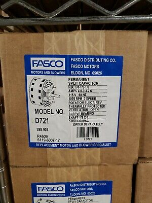 new fasco d721 1/41/51/6 hp blower motor reversible 1075 rpm