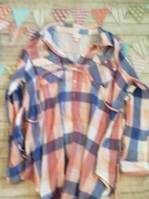 7e46bf689d042 Maternity Long Sleeve Plaid Popover Tunic - Isabel Maternity by Ingrid XL  NWT