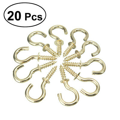55mm long 20Pcs//Pack Screw Hooks Metal Cup Hook Kitchen Buckle Screw Peg 25mm