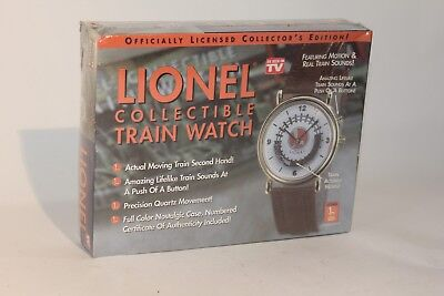 Lionel Train Watch w Tin Case Collectible Motion Real Train Sounds  Sealed
