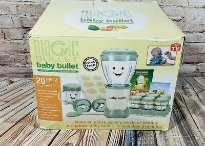 Magic Baby Bullet  Food Blender Processor System Appears Unused with box