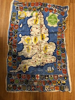 Historic Map of England and Wales towel