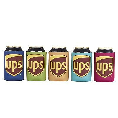 5 Pack Lot United Parcel Service Ups Neoprene Collectible Can Coolie Koozies