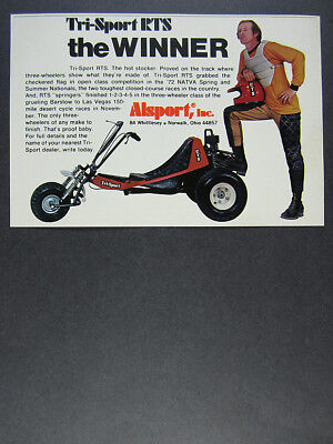 1973 COX CHOPPER Trike Vintage Tether Bike Vintage Ad