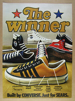 a22e9b79e87b3 VINTAGE SEARS CONVERSE The Winner High Tops Made In Usa Complete Set ...