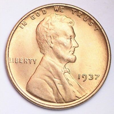 1937 Lincoln Wheat Small Cent CHOICE FREE SHIPPING E266 N